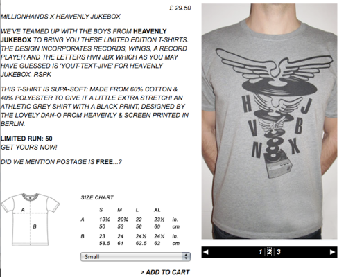 Heavenly Jukebox T shirt