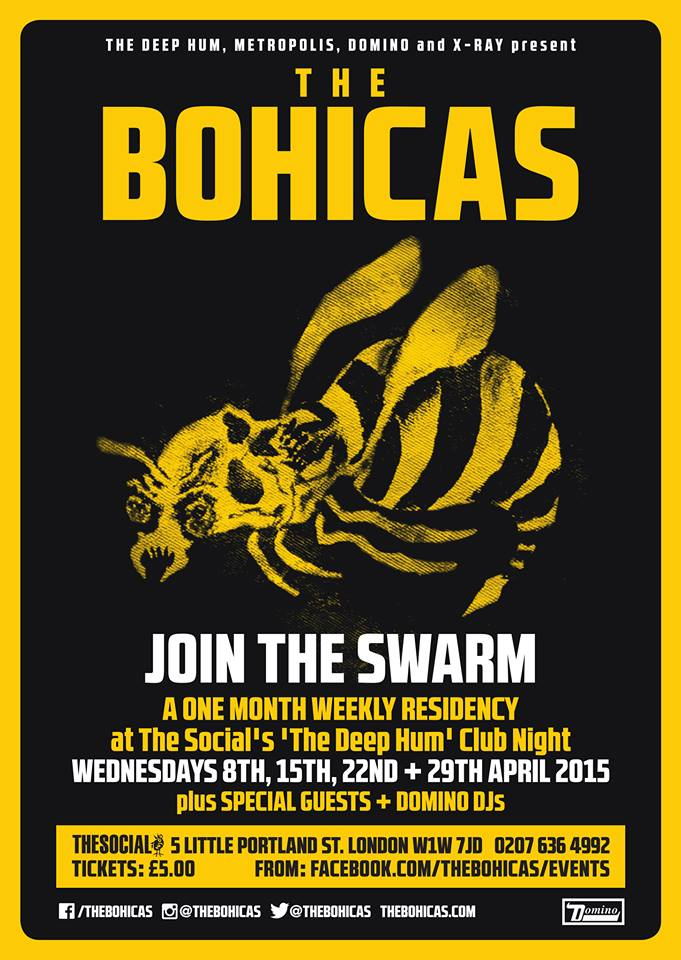 The Deep Hum And Domino Records Present The Bohicas Residency The